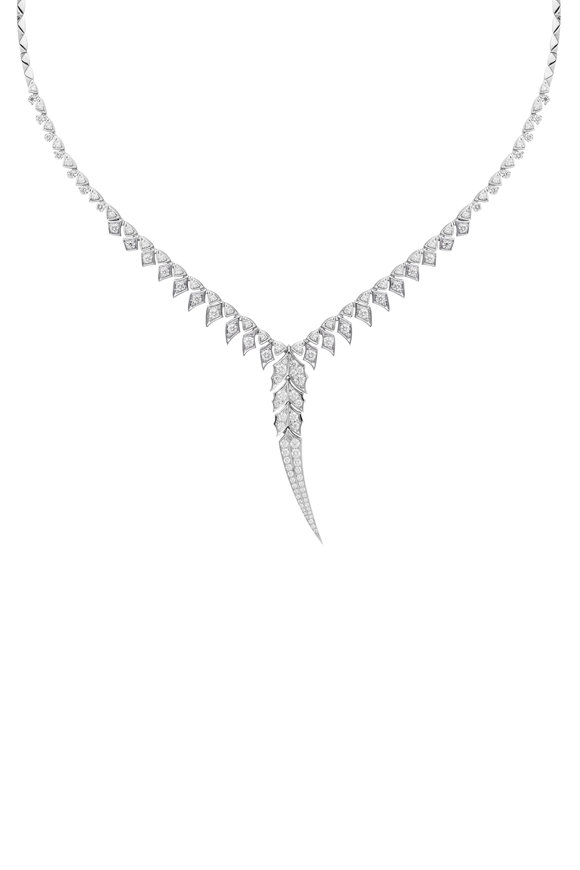 Stephen Webster 18K White Gold Magnipheasant Feather Necklace