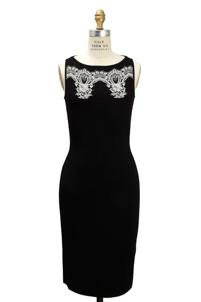 Valentino - Black Knit Dress