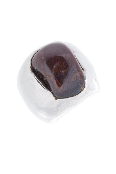Precious - Silver Brown Stone Ring