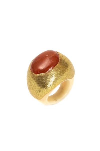 Precious - Yellow Gold Carnelian Ring