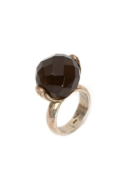 Precious - Sterling Silver Smokey Topaz Ring
