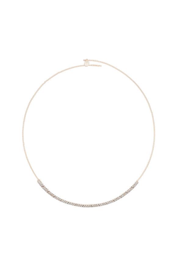 Mattia Cielo Gold & Titanium Diamond Necklace
