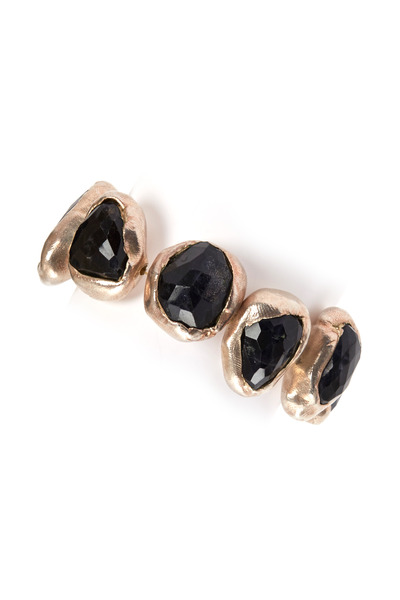 Precious - Sterling Silver Large Iolite Rock Bracelet
