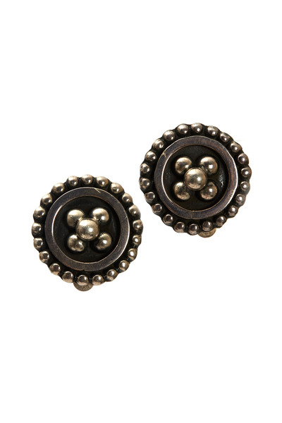 Precious - Sterling Silver Clip-On Button Earrings
