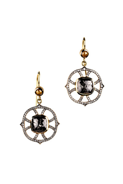 Sylva & Cie - 18K Gold & Silver Diamond Web Drop Earrings