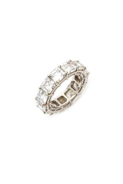 Kwiat - Platinum Asscher-Cut Cubic Zirconia Ring