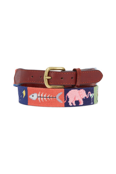 Smathers & Branson - Limited Edition Greatest Hits Needlepoint Belt