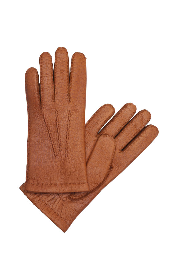 Hestra Tan Peccary Leather Gloves