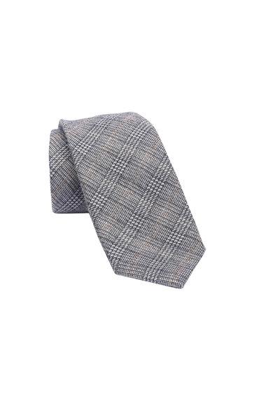 Ermenegildo Zegna - Gray Plaid Wool & Silk Necktie