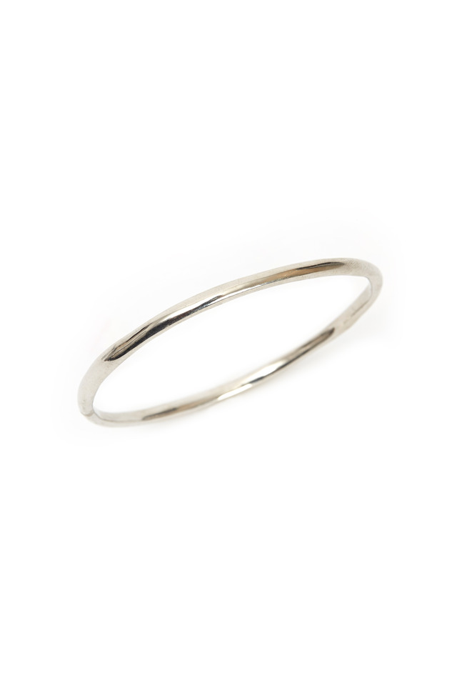 Sterling Silver Large Round Bangle