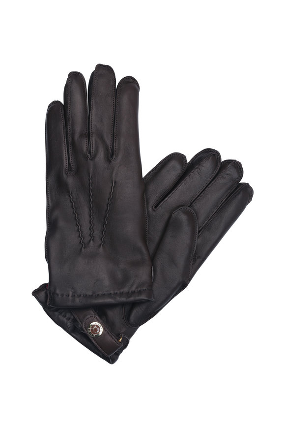 Dents Brown Hairsheep Leather & Cashmere Gloves