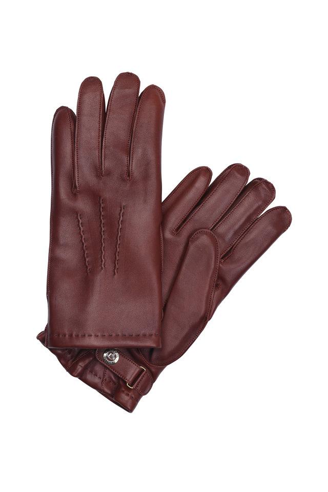 English Tan Hairsheep Leather & Cashmere Gloves