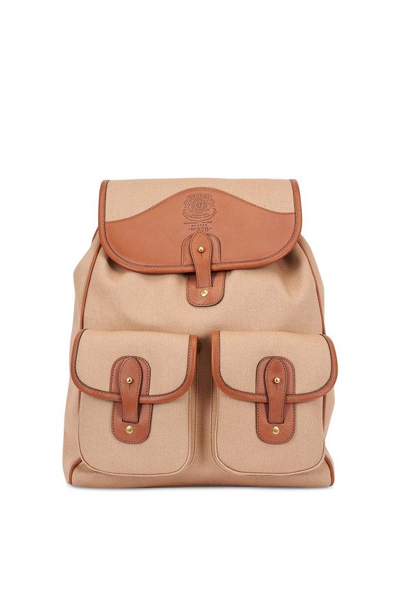 Ghurka Blazer Khaki Canvas & Leather Backpack