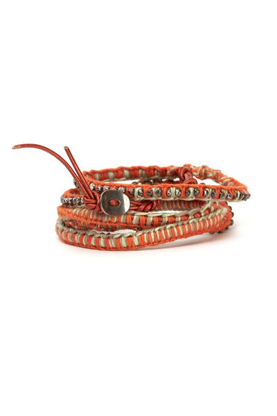 Chan Luu - Leather & Cotton Wrap Bracelet