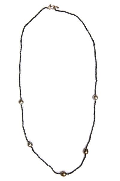 Robin Rotenier - Silver Mystic Topaz Tahitian Pearl Necklace