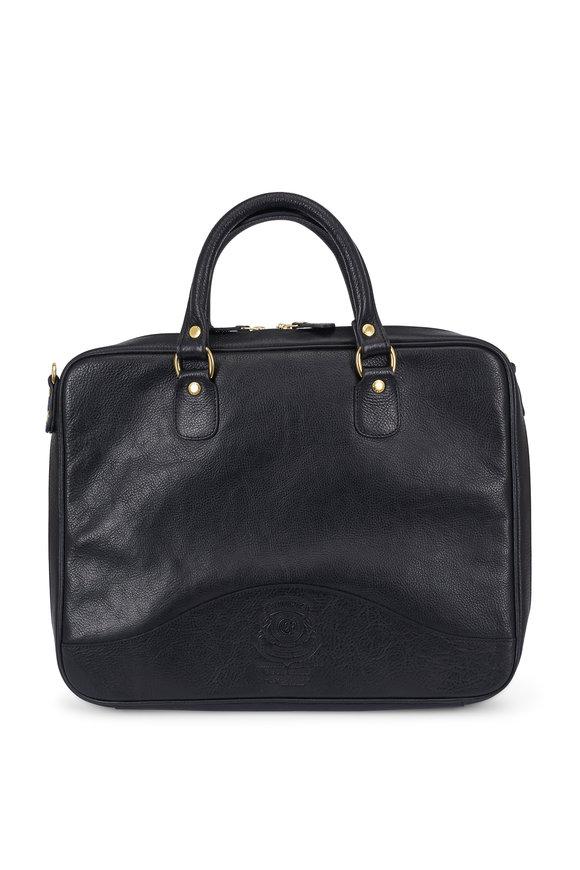 Ghurka Tech Case No. 262 Black Leather Briefcase