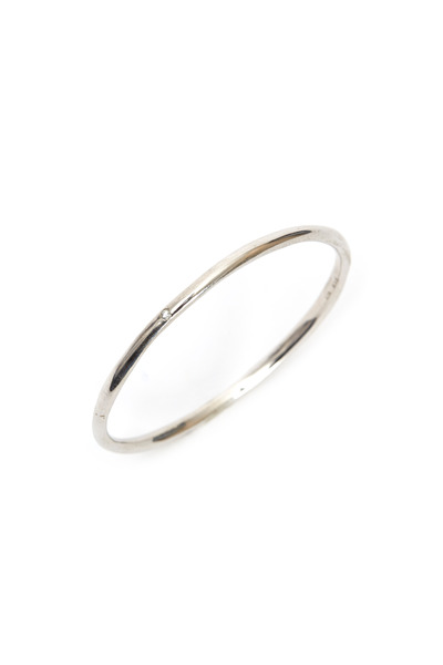 Robin Rotenier - Sterling Silver White Sapphire Round Bangle