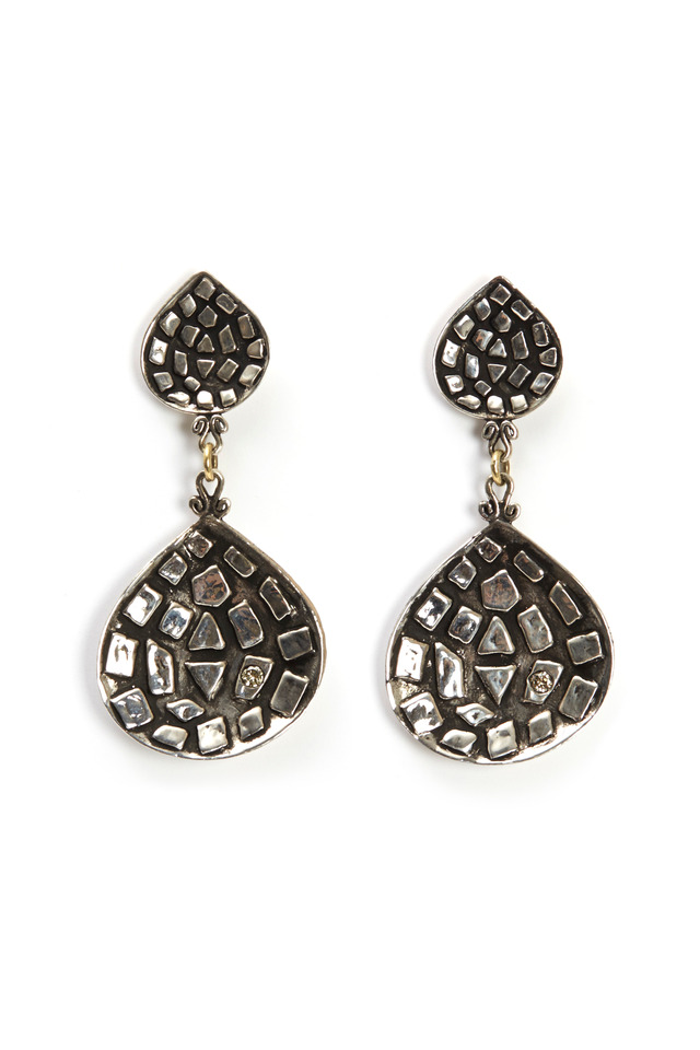 Sterling Silver Mosaic Earrings