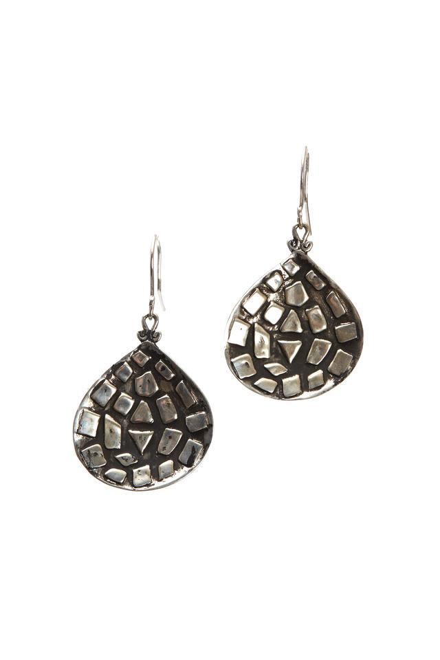 Sterling Silver Mosaic Earrings