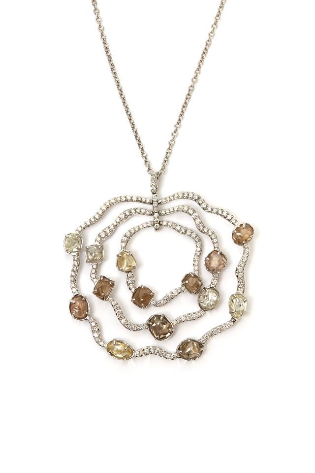White Gold Sodwana Pendant Diamond Necklace