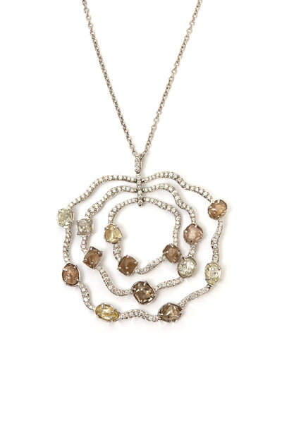 Diamond in the Rough - White Gold Sodwana Pendant Diamond Necklace
