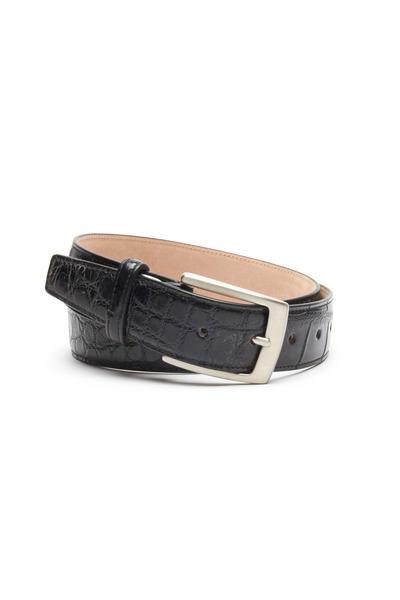 Olop - Black Matte Crocodile Leather Belt