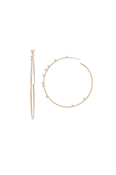 Mattia Cielo - 18K Rose Gold Diamond Coil Hoops