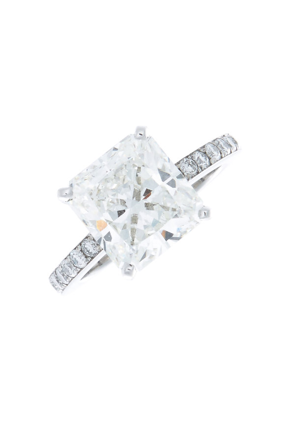 Louis Newman Platinum Diamond Bridal Ring