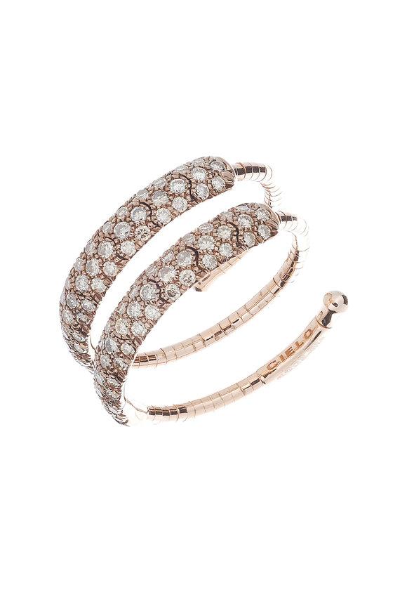 Mattia Cielo Gold & Titanium Diamond Coil Ring