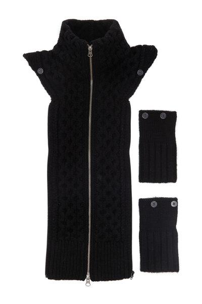 Veronica Beard - Upstate Black Cable Wool Dickey