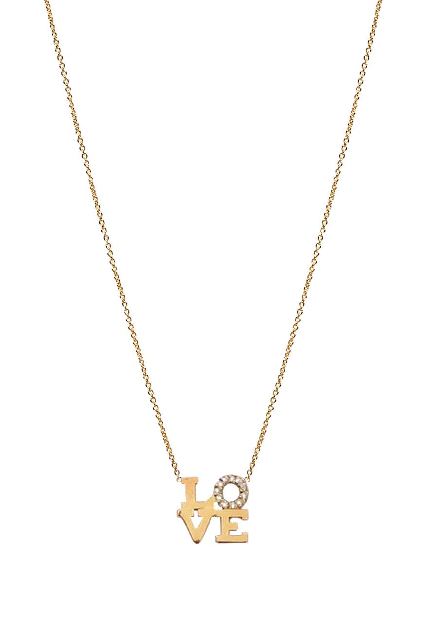 "Diamond ""Love"" Necklace"