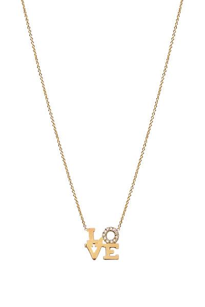 "Zoe Chicco - Diamond ""Love"" Necklace"