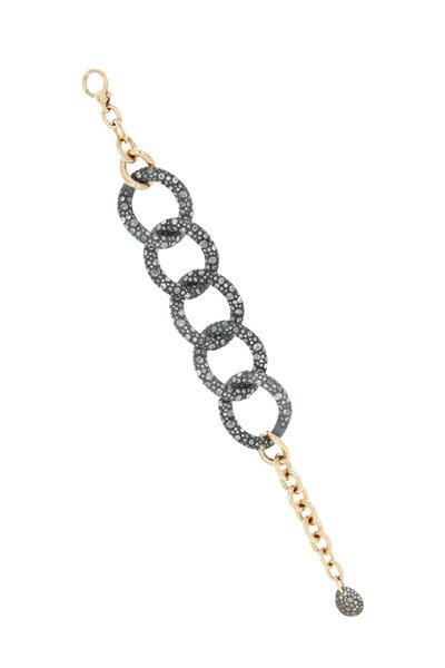 Pomellato - Pink Gold Black Diamond Tango Bracelet