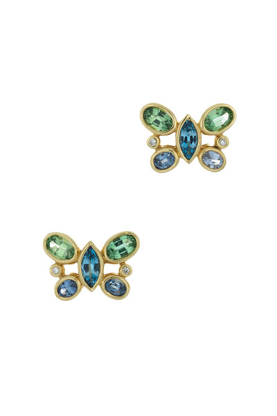Temple St. Clair - Yellow Gold Butterfly Earrings