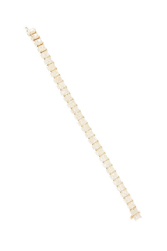 Louis Newman Platinum Yellow Diamond Bracelet