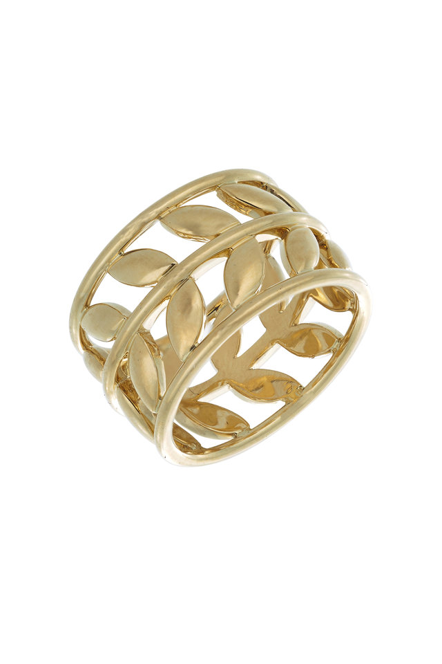 18K Yellow Gold Vine Ring