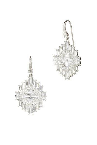 Nam Cho - 18K White Gold Sapphire & Diamond Drop Earrings