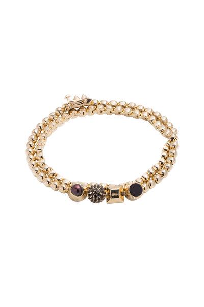 Eddie Borgo - Gold Double Wrap Collage Bracelet