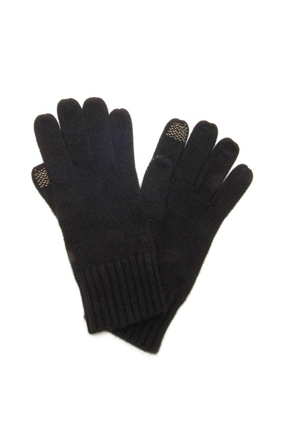 Portolano Black Cashmere Blend iPhone Gloves