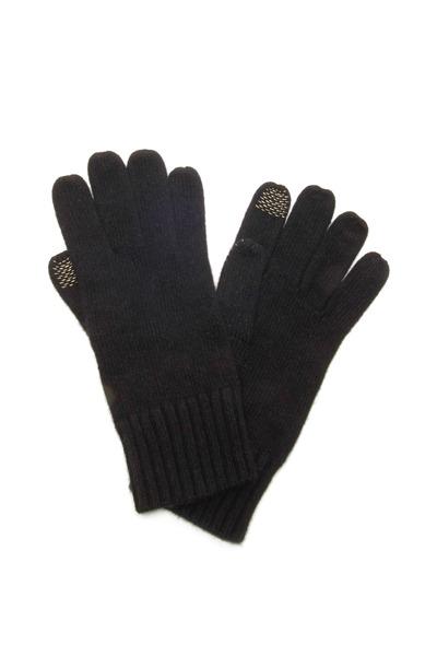 Portolano - Black Cashmere Blend iPhone Gloves