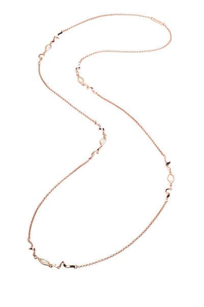 Eddie Borgo - Brass Plated Gold Navette 5 Station Necklace