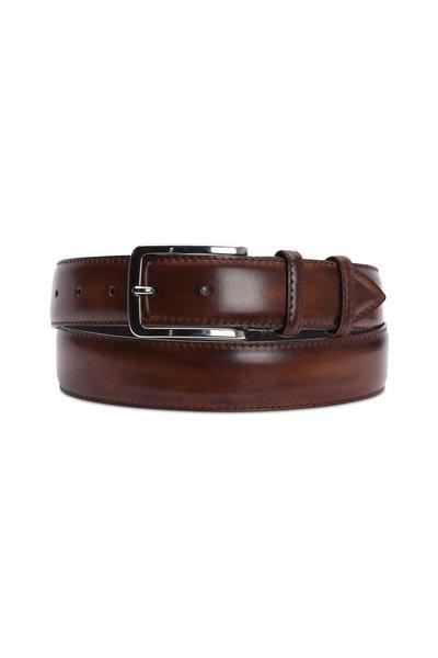 Bontoni - Chocolate Brown Leather Belt