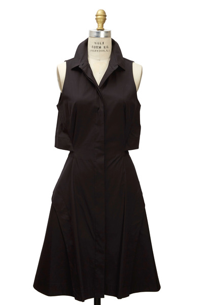 Proenza Schouler - Black Open-Back Shirt Dress