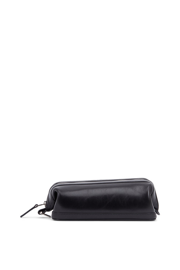Bosca Black Leather Dopp Kit