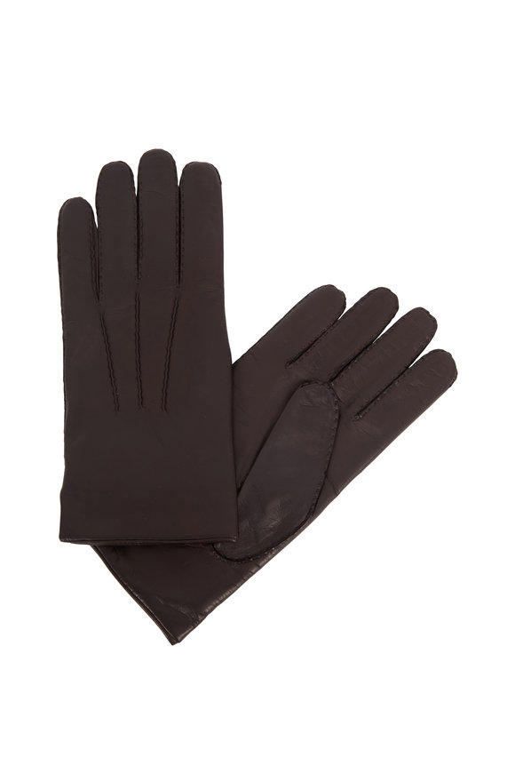Portolano Chocolate Nappa Leather Gloves