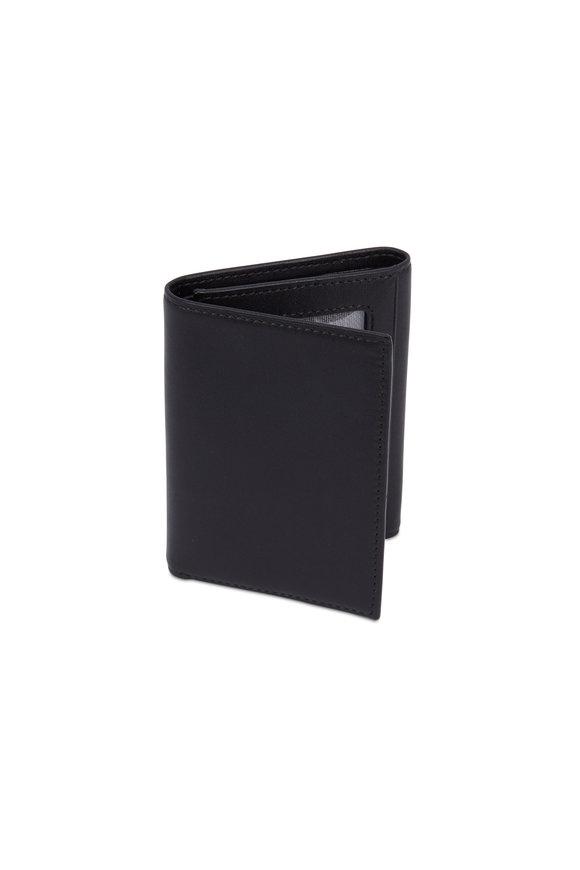 Bosca Black Leather Tri-Fold ID Wallet