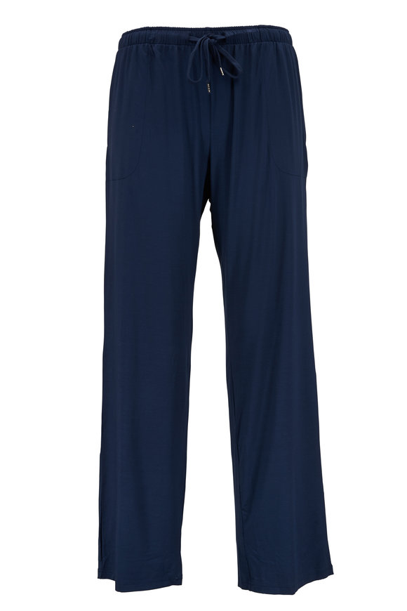 Derek Rose Navy Blue Jersey Lounge Pant