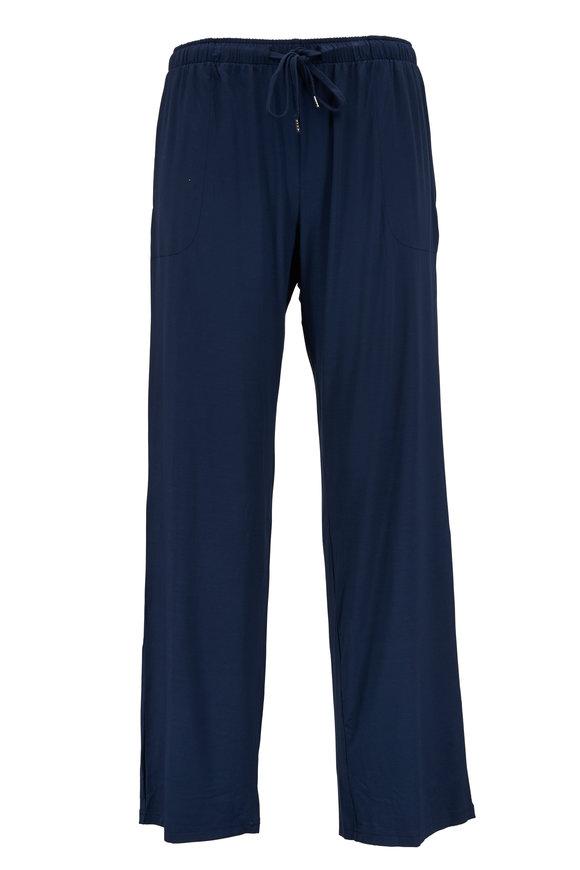 Derek Rose Navy Blue Jersey Lounge Pant