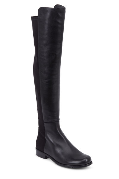 Stuart Weitzman - Reserve Black Leather Over-The-Knee Boot