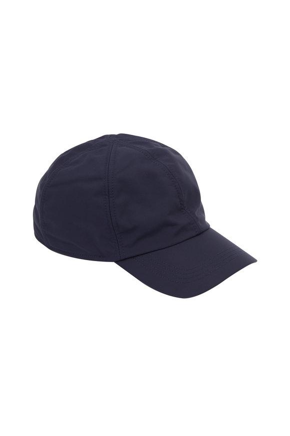 Wigens Navy Blue Nylon & Fleece Lined Cap